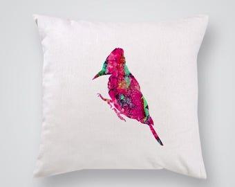 Watercolor Bird Pillow Cover Throw Pillow Home Decor