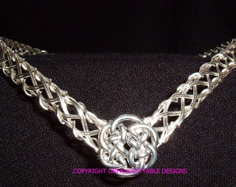 Silver metal Celtic Knot woven circlet crown - adjustable - fit men and women larp ren sca