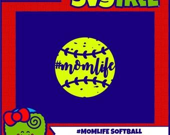 Momlife SVG Softball Mom SVG Softball Mom Shirts Softball SVG Mom Life svg Commercial Free Cricut Files Silhouette Files