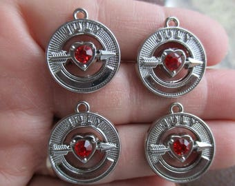 Set of 4 July Birthstone Charms