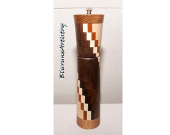 Deluxe Handcrafted Peppermill made from Segmented Woods - P26