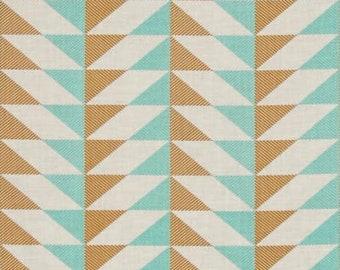 54090- Joel Dewberry Modernist collection Arrowhead in aqua color - 1/2  yard