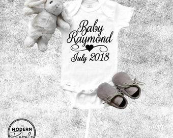 Baby Onesie® Pregnancy Announcement IVF onesie® Custom Onesie® Baby Boy Baby Girl New baby Infant clothing Baby Shower Newborn onesie®