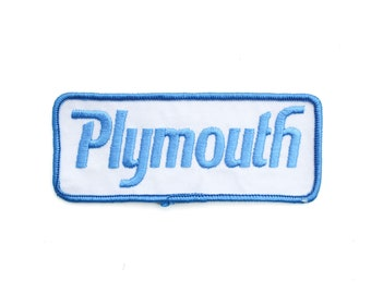 """Vintage Plymouth Muscle Cars Mopar Super Bee Superbird Fury Roadrunner Duster Embroidered Patch 5"""" x 2"""""""