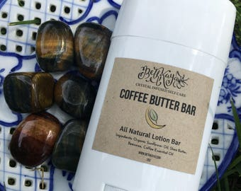 COFFEE BUTTER BAR - Sweet Coffee Lotion Bar- All Natural - Fresh Made