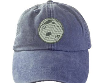 Moon Hat  Ladies Monogram Hat.  Monogram Baseball Hat. Cool Mesh Lining & Adjustable Strap. 33 Colors Avail. HER-LP101