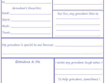 All About Grandma - A Children's Interview