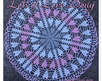 Lots of Love Doily Crochet Patern - Instant download - Crochet PATTERN (pdf file)