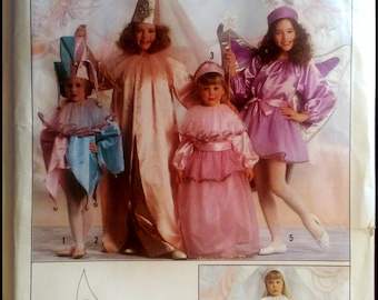 Simplicity 9343  Boys' And Girls' Jester, Princess, Bride And Fairy Costumes  All Sizes Included   UNCUT