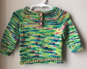 Hand Knit 100% Merino Wool Baby Sweater