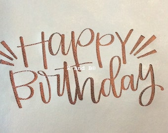 Happy Birthday Cake decorating mesh stencil