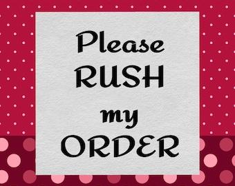 S'il vous plaît se précipiter ma commande de confettis!