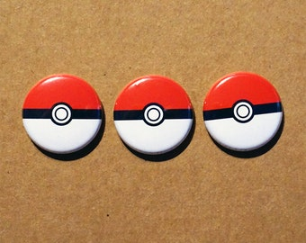 Pokeball Pokemon pinbacks buttons 1""