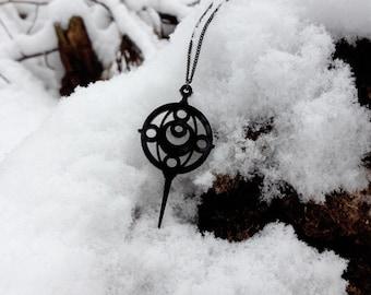 Dark Sailor Grief Seed Acrylic Necklace