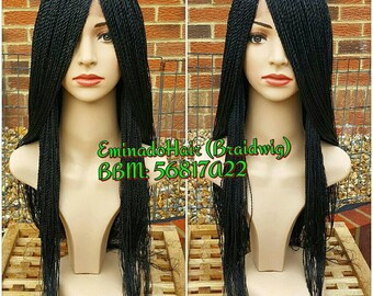 In stock for immediate shipping Braided Wig, Braidswig. Senegalese Twist. BLACK or your colour.Braidwig, Braidswig 20/24 inches