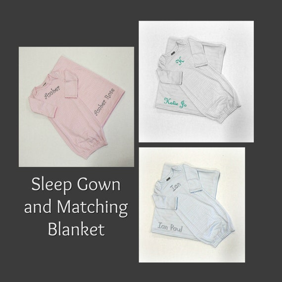 Sleep Gown and Matching Blanket in 3 Colors