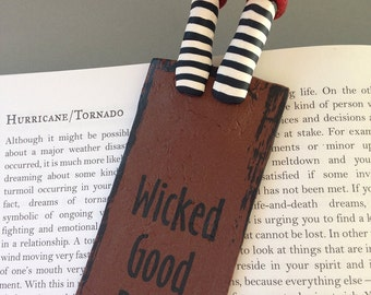 Bookmark Wicked Good Book Wicked Witch Legs and Feet Ruby Slippers Wizard of Oz