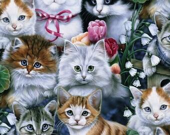 "Fleece,Cats all over,davids Textile 60"""