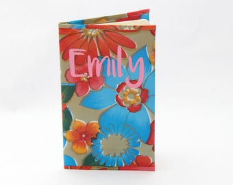 Monogrammed Journal - Personalized Oilcloth Notebook Cover