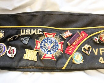 VFW 49 Cap With Badges And Patches