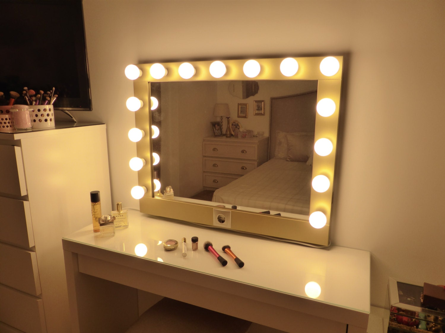 Hollywood Lighted Vanity Mirror Large Makeup Mirror With