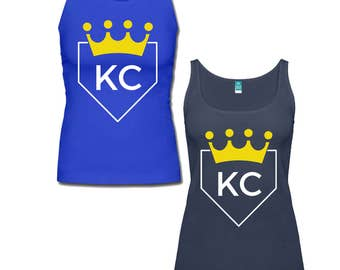 Kansas City Royals KC Baseball Home Plate V Neck and Tank Top