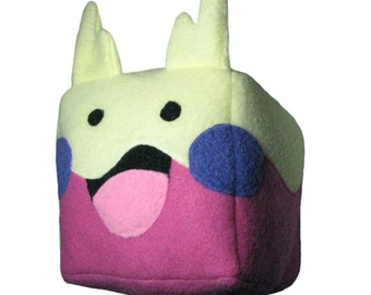 JULY PREORDER Goomy cube plushie stuffed animal toy cute decor nintendo geeky nerdy video game square anime character doll