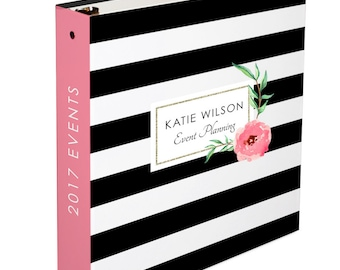 Personalized Binder- Personalized 3 Ring Binder- Monogrammed 3 Ring Binder- Wedding Planner Gift - Event Binder/ Organizer