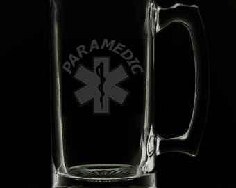 "25 Ounce ""Paramedic"" Personalized Beer Mug"