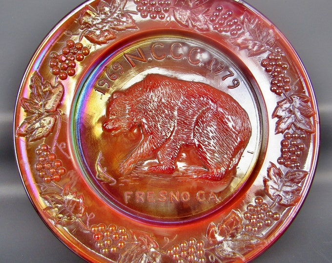 Carnival Glass - Wetzel Souvenir Plate Northern California Carnival Club 1979
