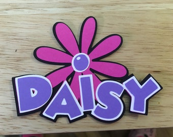 Daisy name die cut