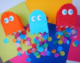 Set of 3 Party Favors, Pac-Man Mini Pinatas (3),, Pacman Party, Pacman goodie bags, Pacman party favors, Pacman Ghost Pinata