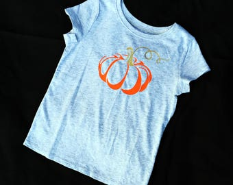 Gold and Orange Pumpkin Short Sleeve Tee