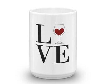 Love Wine Coffee Mug