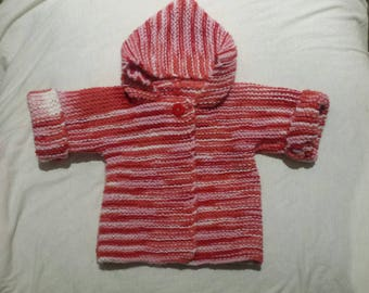 Coat hooded baby 3 to 6 months