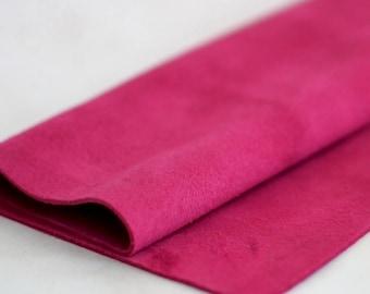 Genuine Leather, Magenta Pink Suede