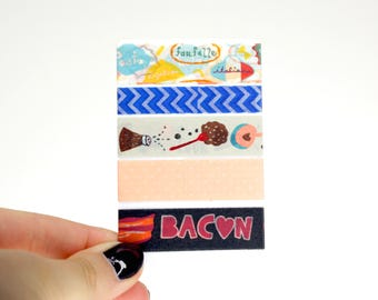 Planner Washi Sampler, 5 Washi Tape Samples for your Erin Condren Life Planner, Mambi Happy Planner, Planner Accessories