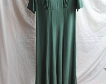 Green Silk lined Laura Ashley dress REF 841