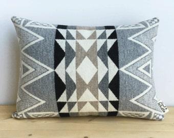 Geometric Wool Pillow // Stone Triangle