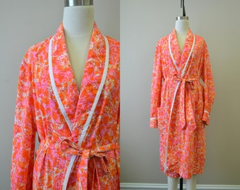 1970s Lilly Pulitzer Rooster Print Robe