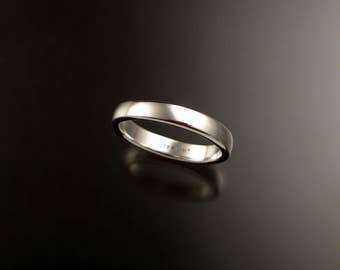 Sterling Silver low dome Wedding band made to order in your size