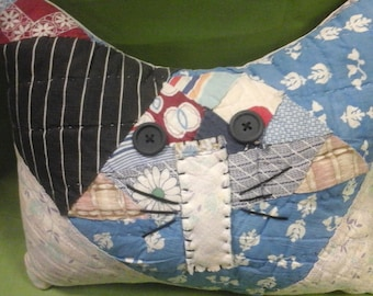Quilted Cat Pillow