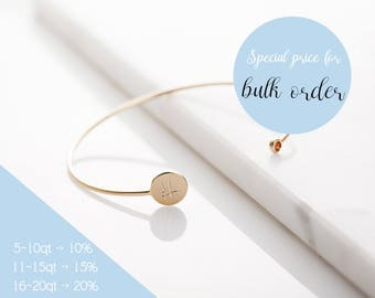 Birthstone Bangle Bracelet, Simple Bracelet, Personalized Dainty Bangle Bracelet, Wedding Gift, Gold, Rose Gold