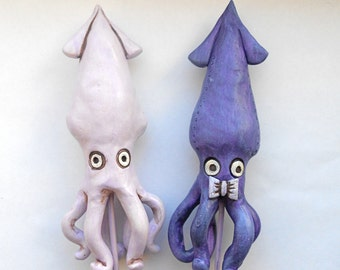 Purple Squid In Love Wedding Cake Topper for your Beach Wedding