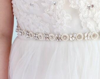 Bridesmaids Belt Flower Girl Belt Wedding Belt Bridal Sash Belt Flower Girl Sash Rhinestone Belt Crystal Pearl Wedding Sash Belt