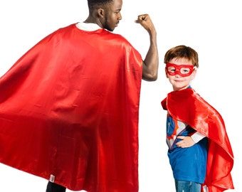 Red Superhero Cape, Kids Superhero Cape, Adult Superhero Cape, Superhero Party Capes, Superman Cape