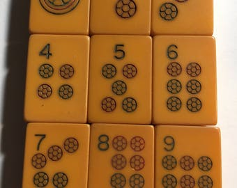 9 Vintage bakelite mahjong tiles - crafts bracelets etc