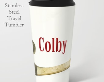 Hockey Travel Mug-Hockey Travel Cup-Travel Mug-Stainless Steel Tumbler-15 oz Tumbler-Ice Hockey Mug-Insulated Travel Mug-Custom Mug