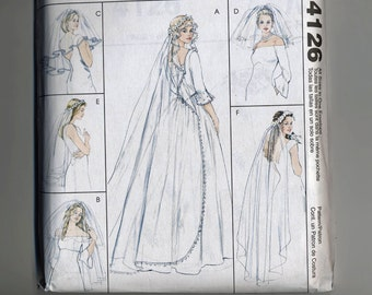 Bridal Veils McCalls 4126 Blusher Veil Headband Flyaway Elbow Finger TIp Ballet Chapel Cathedral  UNCUT Sew Sewing Pattern