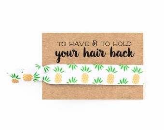 Pineapple Bachelorette Hair Tie Favor | Bachelorette Hair Tie Favor, Pineapple Bachelorette Party Hair Tie Favor, Tropical Luau Party Favor